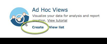 Create Ad Hoc View