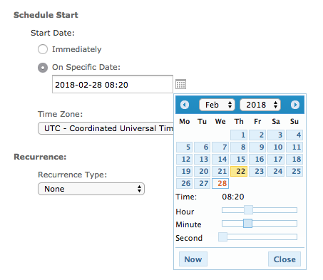 Select Required Date and Time
