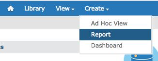 Create Report from Menu