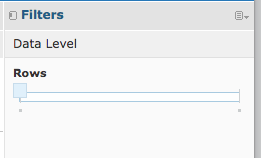 Data Level Slider