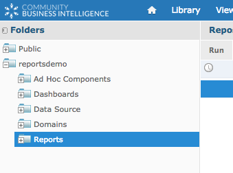 Reports in Repository