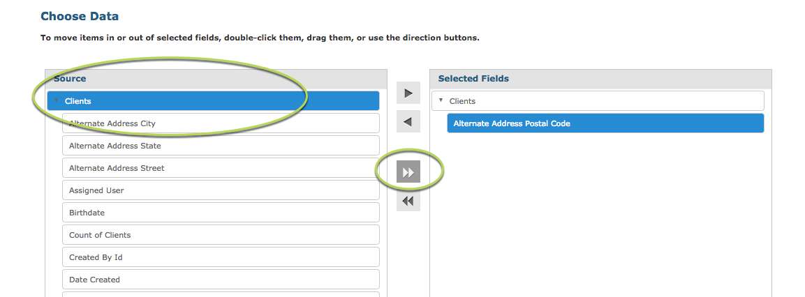 Select All Fields